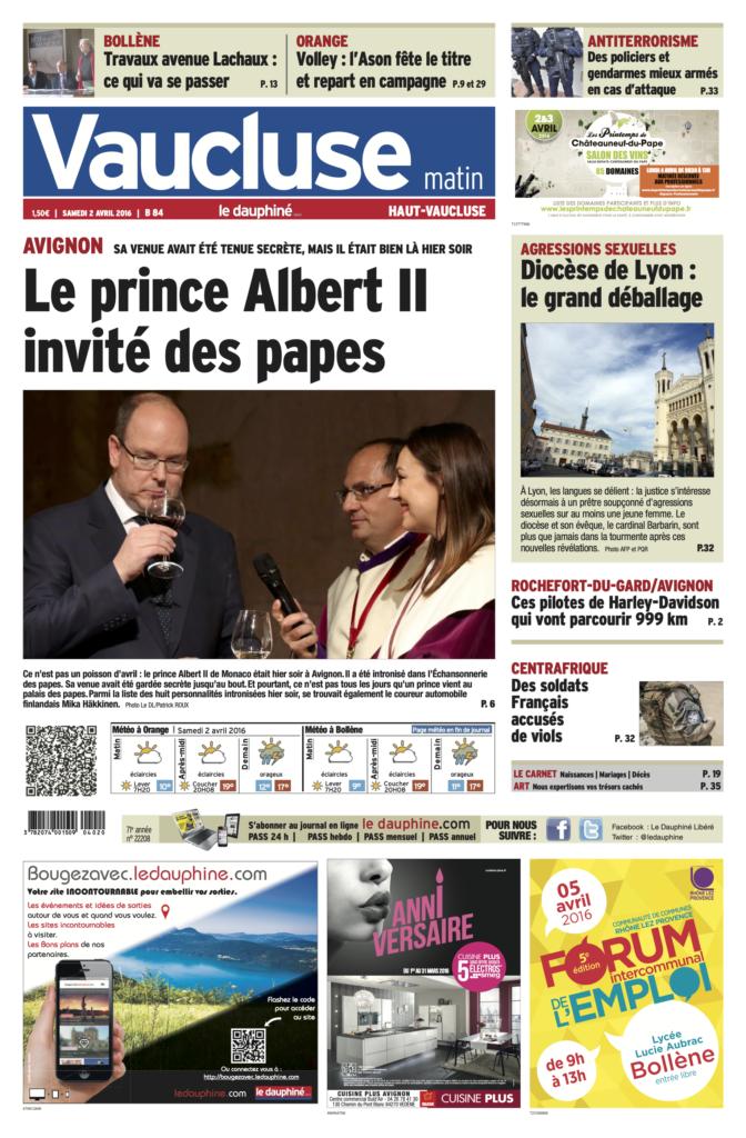 Intronisation du Prince Albert II de Monaco et de Mika Häkkinen - Le Dauphiné